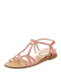 Pelle Moda Neal Crystal Suede Sandal Blush
