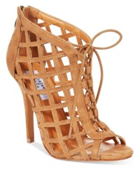 Chelsea And Zoe Ona Lace Up Cutout Booties Women's Shoes Camel