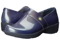 Work Wonders By Dansko Camellia Grey Prism Patent Women's Clog Shoes Black