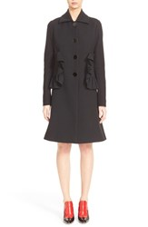 Women's Marni Ruffle Pocket Cotton Blend Coat