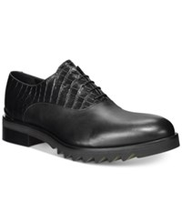 John Galliano Mixmedia Plain Toe Lug Sole Oxfords Men's Shoes