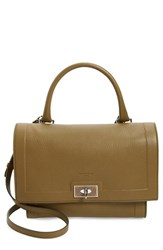 Givenchy 'Small Shark Tooth' Leather Satchel Green Olive Green