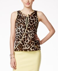 Alfani Leopard Print Chiffon Surplice Top Only At Macy's Cheetah Print