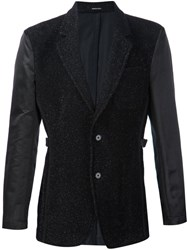 Alexander Mcqueen Sparkle Tweed Blazer Black