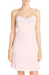 Lauren Ralph Lauren Women's Pointelle Cotton Chemise Coral