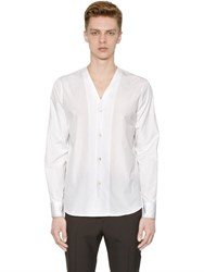 Marni V Neck Cotton Poplin Shirt