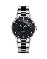 Rado Coupole Classic Automatic High Tech Ceramic And Stainless Steel Watch 38Mm Black Silver