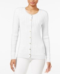 Tommy Hilfiger Frida Cable Knit Cardigan Snow White