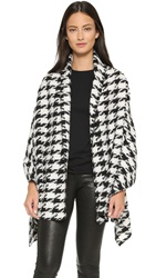 Glamorous Dogtooth Blanket Cardigan Black White Dogtooth