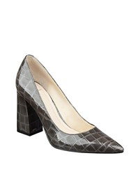Marc Fisher Jenny Croco Patent Leather Pumps Brown
