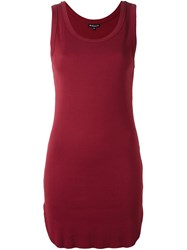 Ann Demeulemeester Long Tank Top Red
