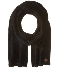 Cole Haan Thermal Stitch Muffler Black Scarves
