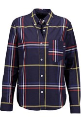 Isabel Marant Thom Plaid Cotton Shirt Multi