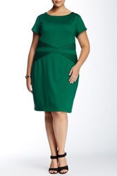 Criss Cross Dress Plus Size Green