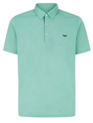 Wolsey Self Collar Pique Polo Green