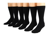 Fox River Work And Weekend Crew 6 Pair Pack Black Crew Cut Socks Shoes