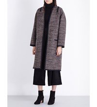 Vanessa Bruno Felivien Laine Tweed Coat Brun