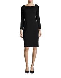 Splendid French Terry Cowlneck Dress Black