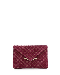 Elaine Turner Designs Elaine Turner Bella Quilted Envelope Clutch Bag Fuchsia
