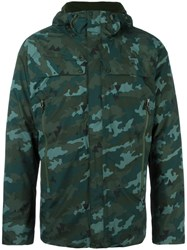 The North Face Camouflage Padded Jacket Green