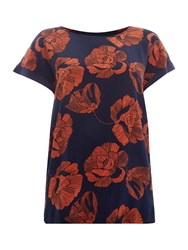 Soaked In Luxury Floral Print Top Multi Coloured