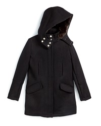 Vince Hooded Wool Parka Black Size S Xl