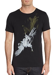 Tee Library Peacock Graphic Cotton Tee Black