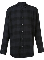 Robert Geller 'The Plaid' Shirt Grey