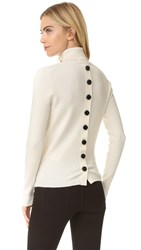 Victoria Beckham Button Back Sweater Off White