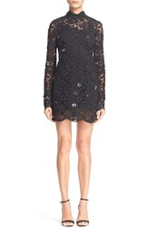 Tracy Reese Embellished Lace Mock Turtleneck Sheath Dress 10