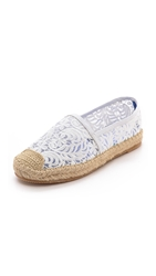 Jeffrey Campbell Nia Lace Espadrilles White