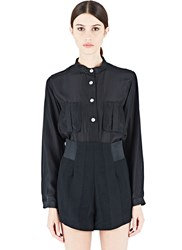 Emiliano Rinaldi Korean Silk Shirt Black