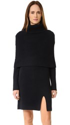 Goen.J Sweater Dress With Shrug Navy