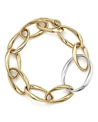 Bloomingdale's Twisted Link Bracelet In 14K Yellow And White Gold Gold White