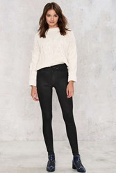 Zee Gee Why Swizzle Sticks High Waisted Skinny Jeans Black