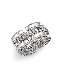 Roberto Coin 18K White Gold Retro Diamond Ring