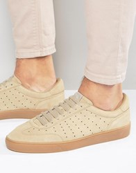 Fred Perry Umpire Suede Trainers Tan