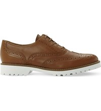 Dune Fawna Leather Brogues Tan Leather