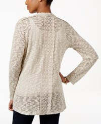 Styleandco. Style Co. Lace Trim Cardigan Only At Macy's Deep Black