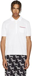 Thom Browne White Cotton Piqua Polo