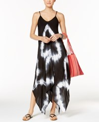 Raviya Tie Dye Handkerchief Maxi Dress Cover Up Women's Swimsuit Black