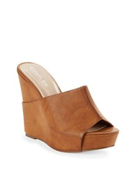 Charles By Charles David Alamo Leather Mules Camel