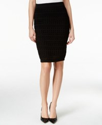 Bar Iii Crocheted Pull On Pencil Skirt Only At Macy's Black