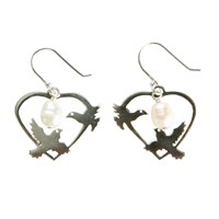 Martick Dove And Freshwater Pearl Earrings