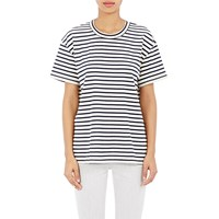 6397 Striped Russell T Shirt Navy Wht Stripe