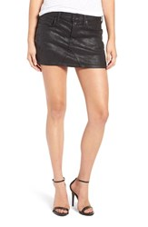 A Gold E Women's Jeanette Coated Denim Miniskirt