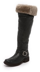 Frye Valerie Shearling Over The Knee Boots Black