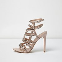 River Island Womens Silver Embellished Strappy Heels