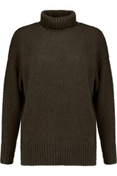 Nlst Knitted Turtleneck Sweater Army Green
