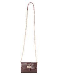Dolce Vita Juliet Leather Phone Crossbody Bag Cocoa